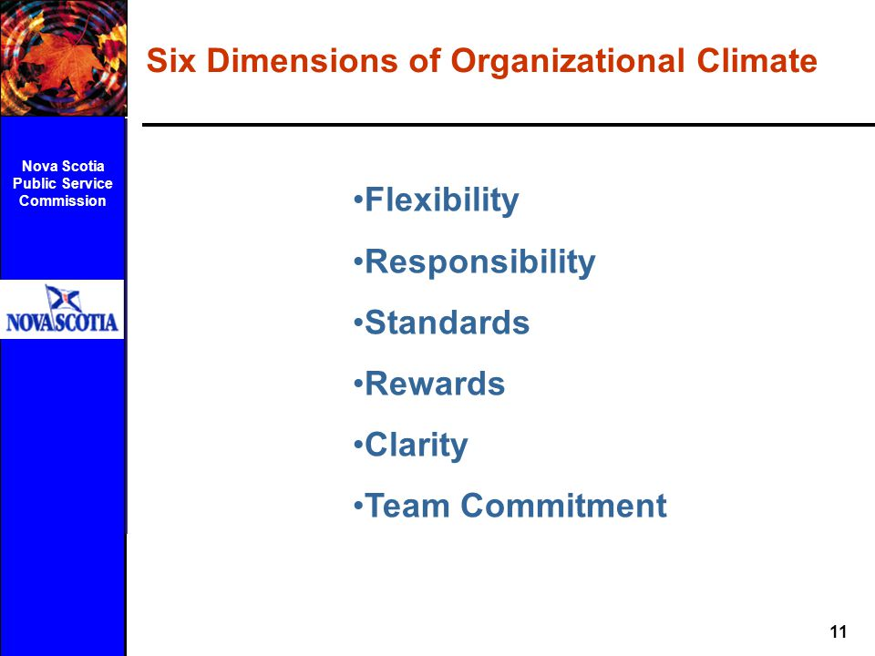 Six Dimensions of Organizational Climate
