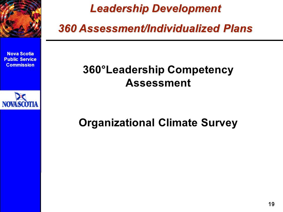 Leadership Development 360 Assessment/Individualized Plans
