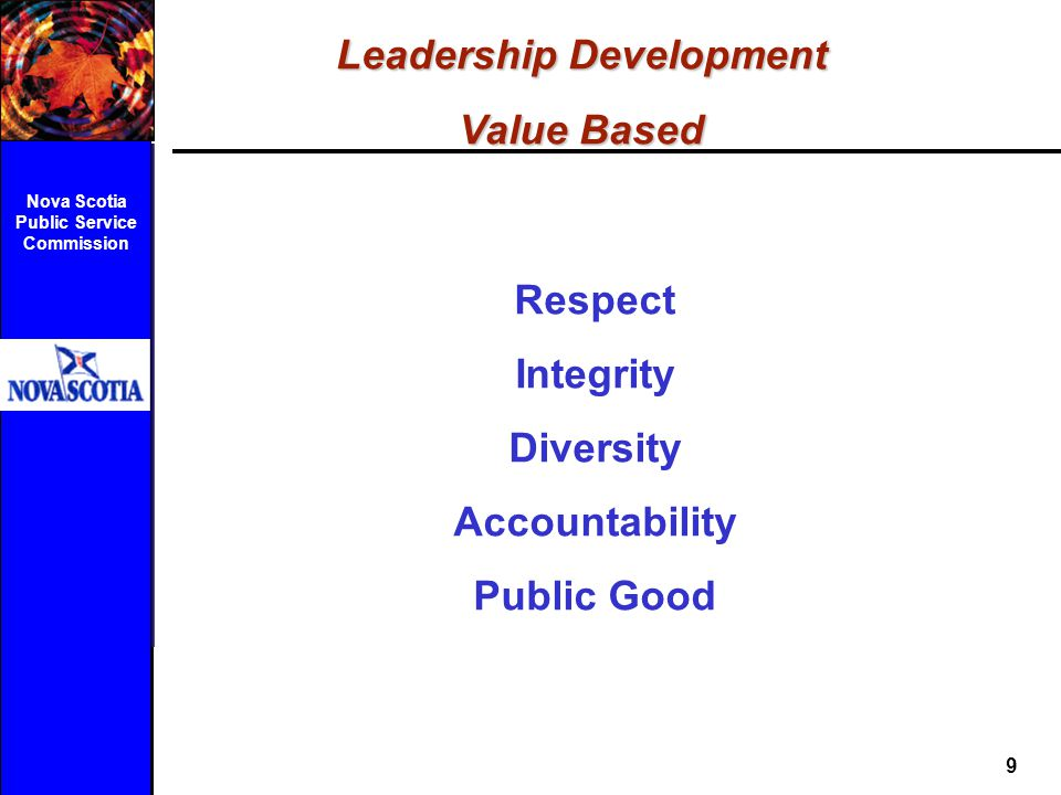 Leadership Development Nova Scotia Public Service Commission