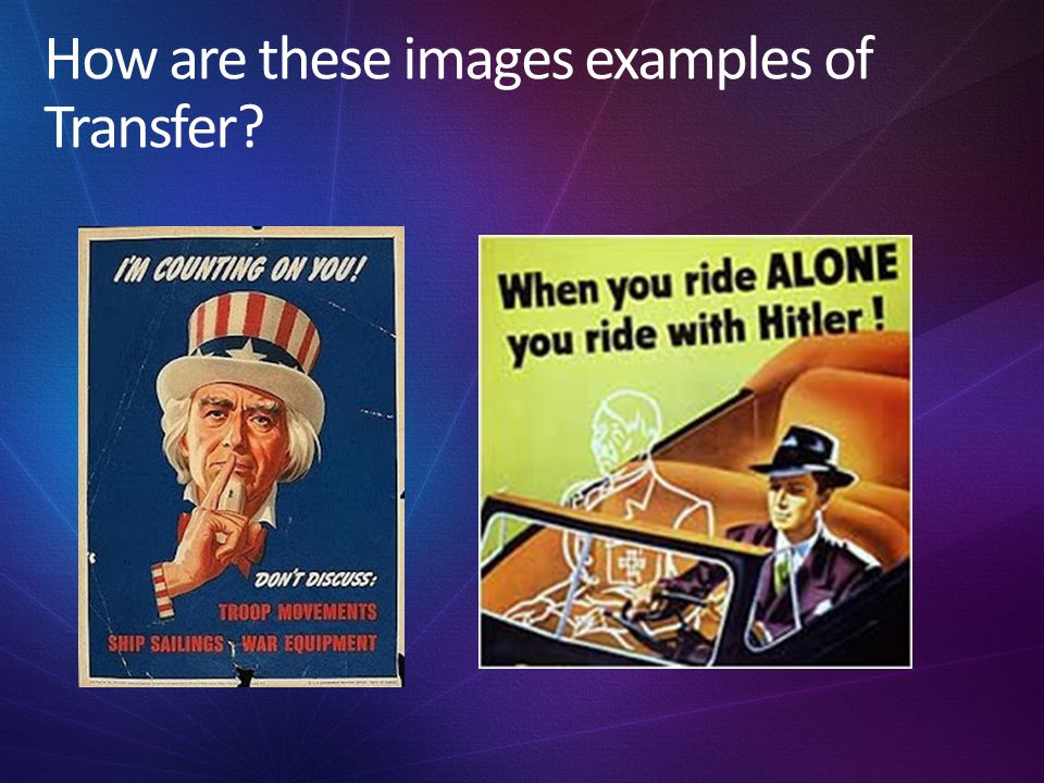 How are these images examples of Transfer