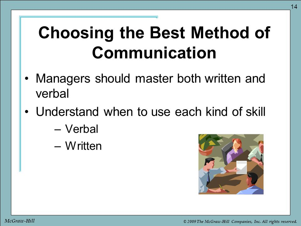 Choosing the Best Method of Communication