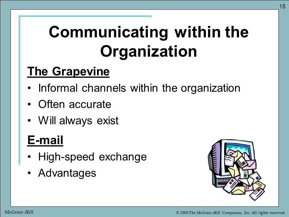 Communicating within the Organization
