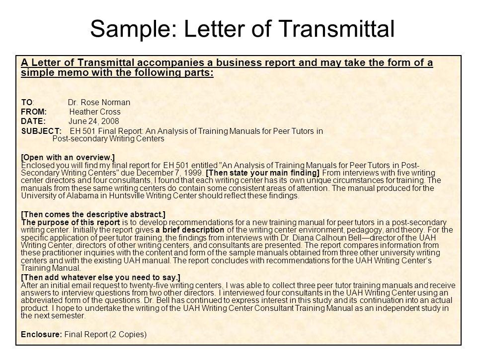 Basic business writing ppt video online download formal business report format 25 sample letter of transmittal spiritdancerdesigns Choice Image