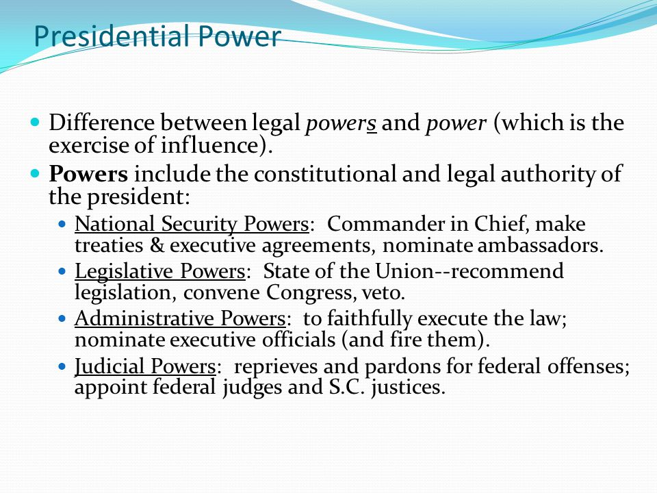 Presidential Powerpowers Ppt Download