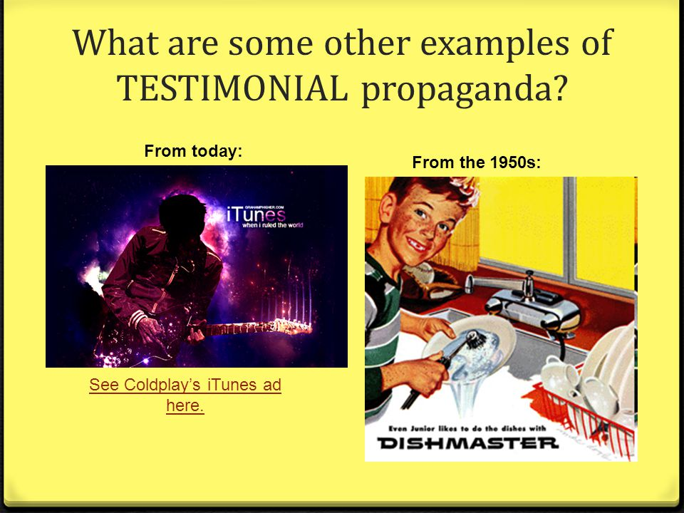 Testimonial Advertising Examples
