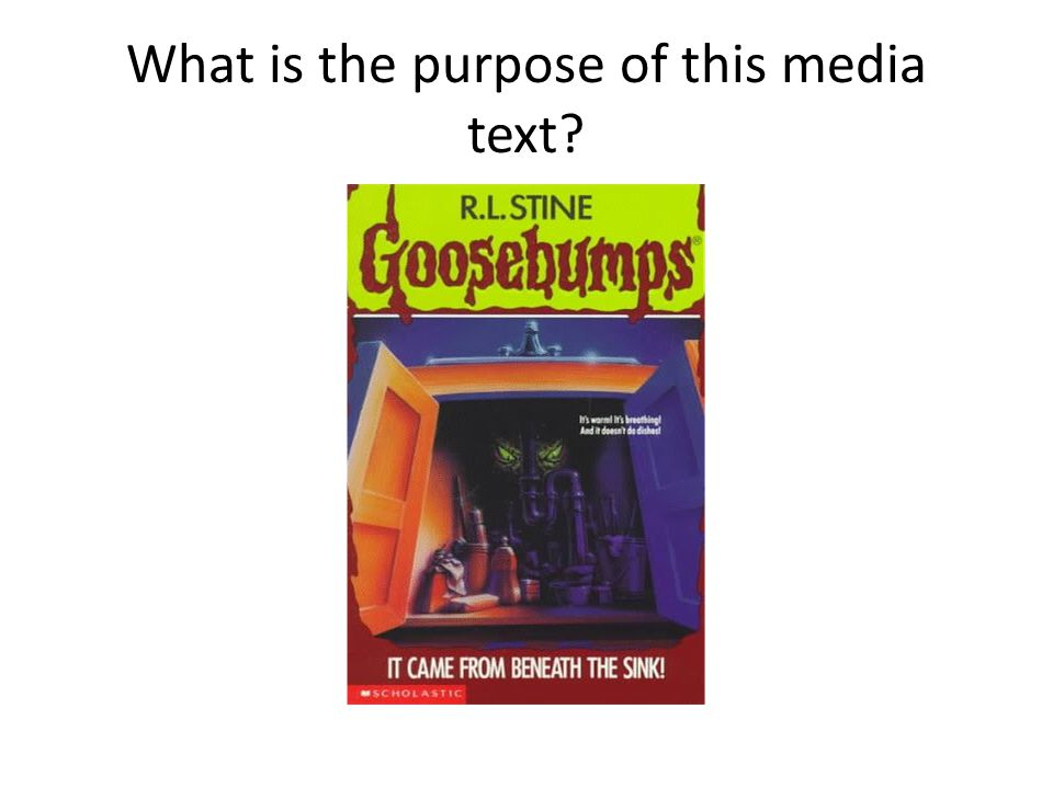 What is the purpose of this media text
