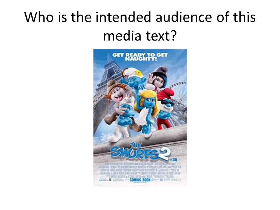 Who is the intended audience of this media text