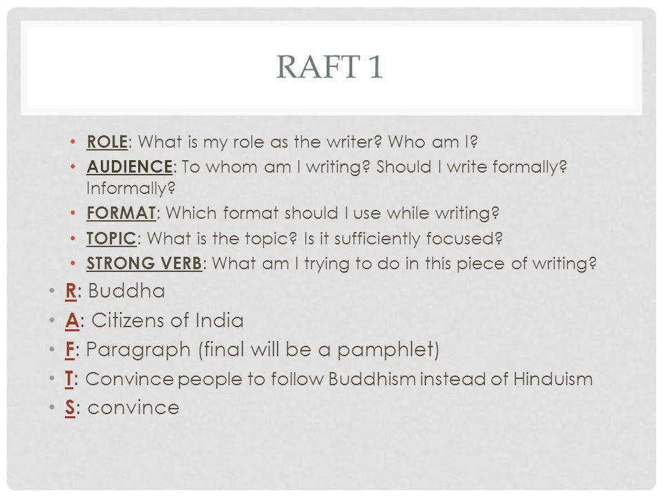 RAFT 1 R: Buddha A: Citizens of India