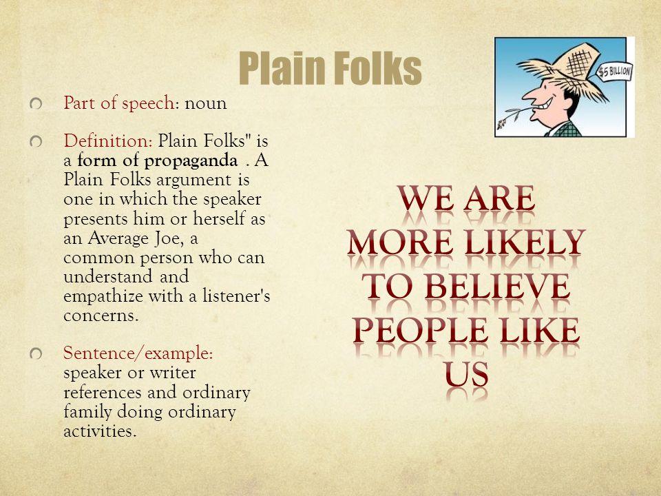 propaganda speech examples