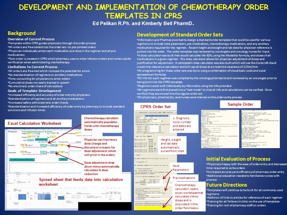 DEVELOPMENT AND IMPLEMENTATION OF CHEMOTHERAPY ORDER TEMPLATES IN ...