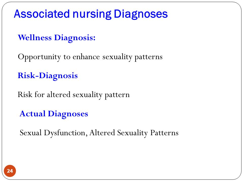 Nursing diagnosis sexual dysfunction