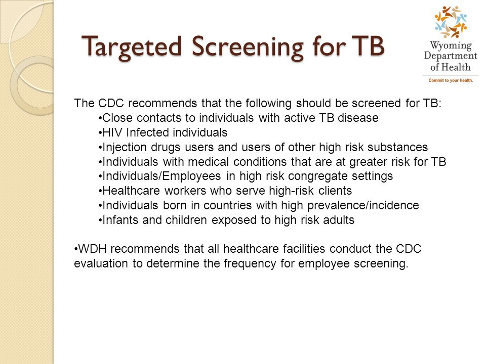 Targeted Screening for TB