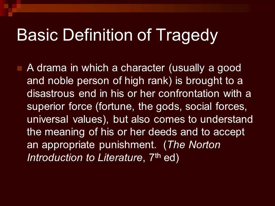 tragic hero literary definition