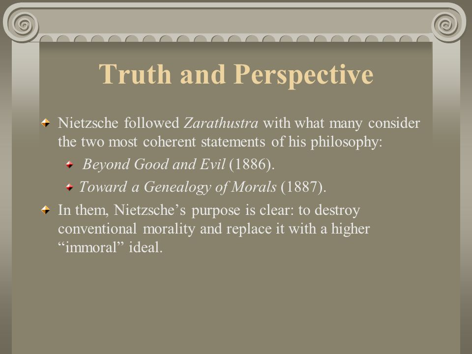 friedrich nietzsche another perspective on reality Friedrich nietzsche quotes - in christianity neither morality nor religion come into contact with reality at any point friedrich nietzsche quotes - the best weapon against an enemy is another enemy he who has a why to live can bear almost any how.