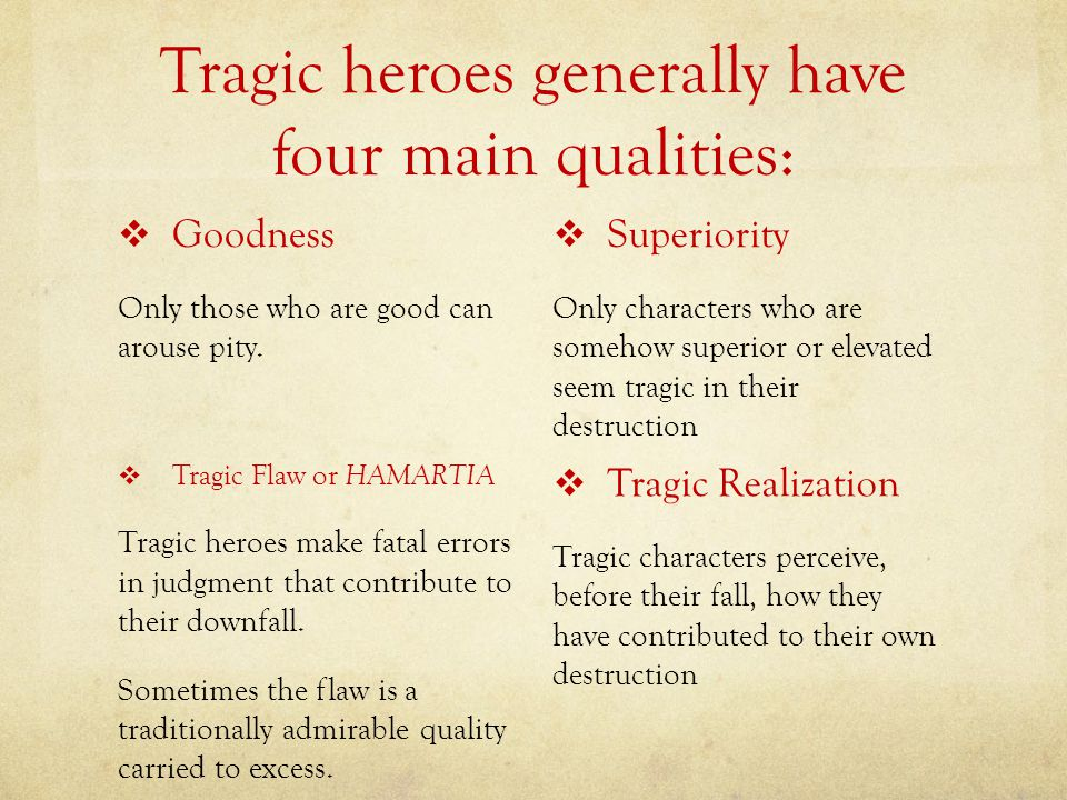 what makes a tragic hero