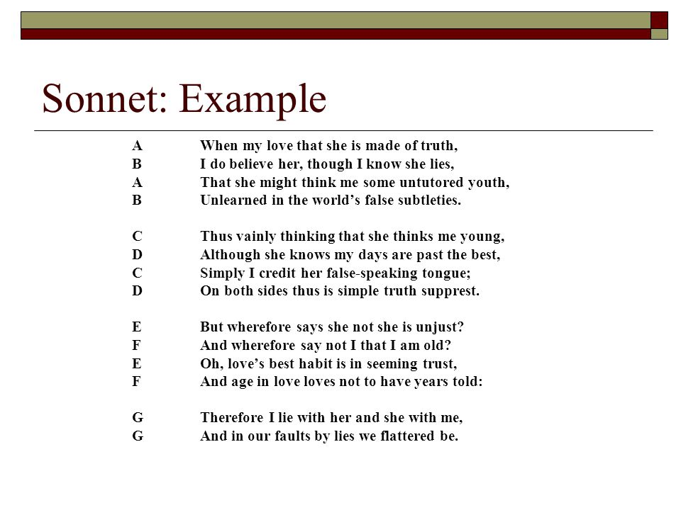 simple sonnets examples