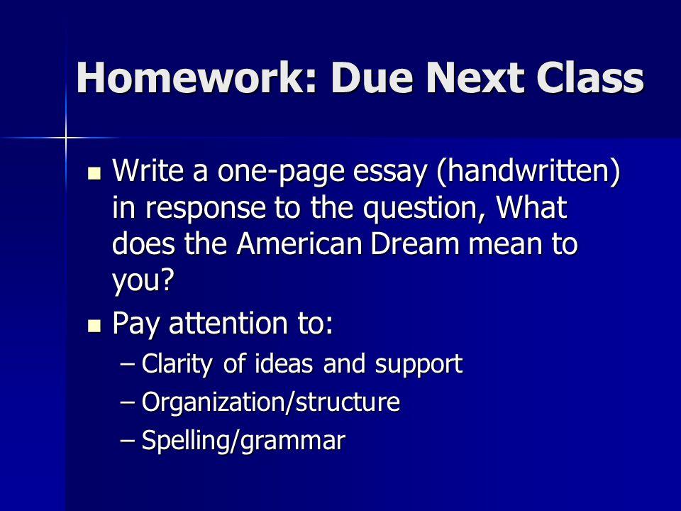Sample Of English Essay  Homework  Computer Science Essay Topics also Compare And Contrast Essay High School Vs College The American Dream According To Many The American Dream Is The  Term Paper Essay