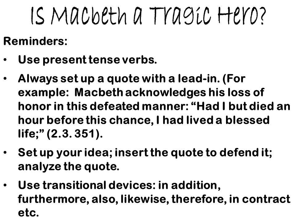 macbeth tragedy quotes