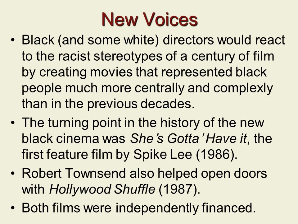 Lecture 8: Being Black in White Hollywood - ppt download