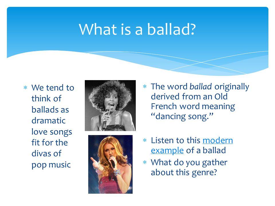 how to write a ballad song