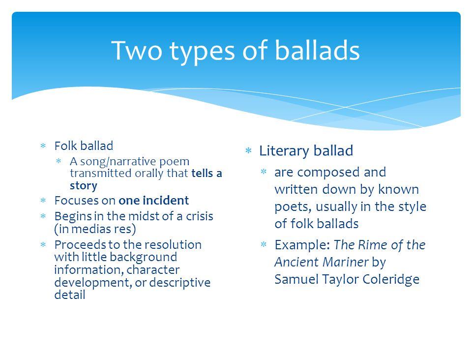 example seminar the ballad ppt download