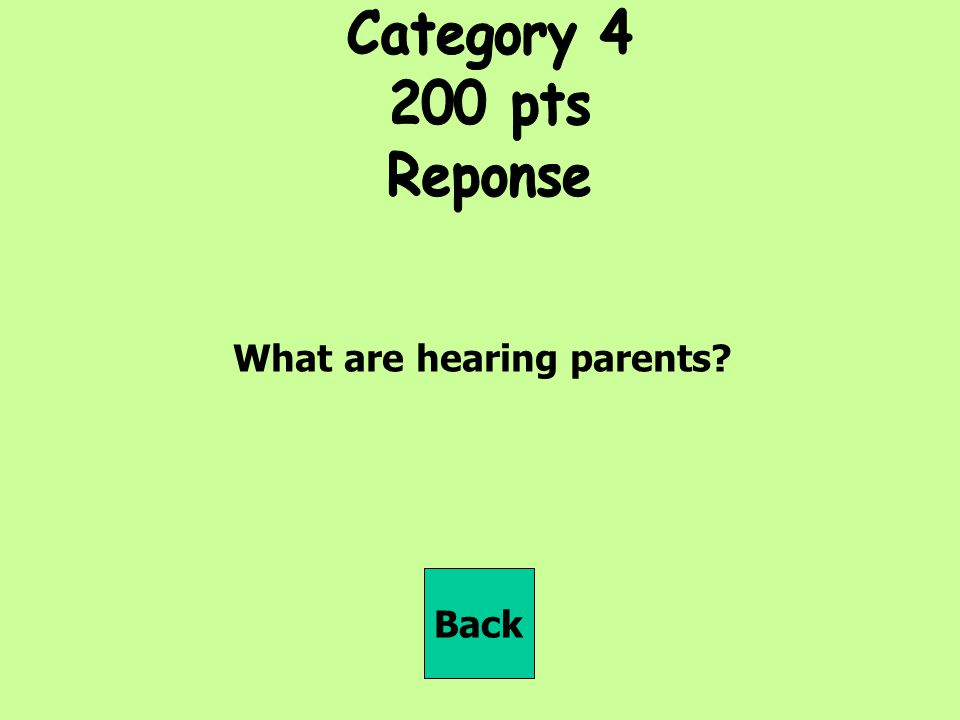 What are hearing parents