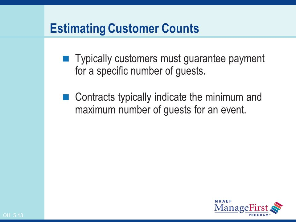 Estimating Customer Counts