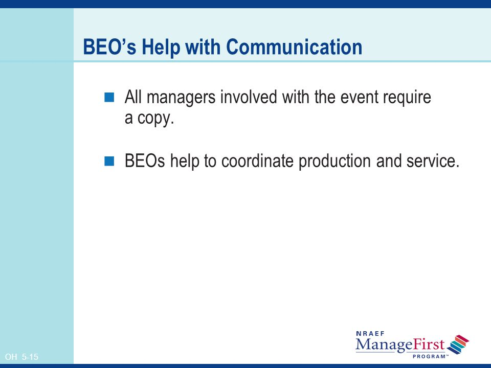 BEO's Help with Communication