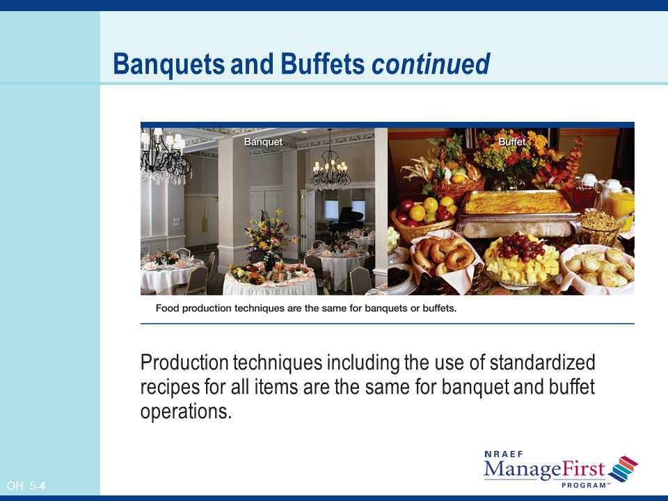 Banquets and Buffets continued