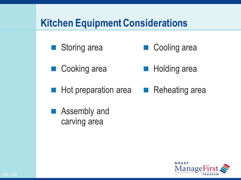 Kitchen Equipment Considerations