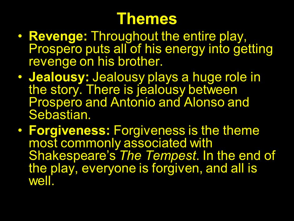 the tempest themes
