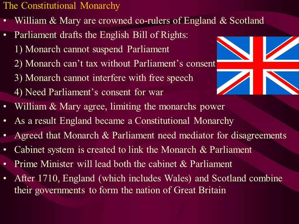 Englands glorious revolution ppt video online download 3 the constitutional monarchy ccuart Images