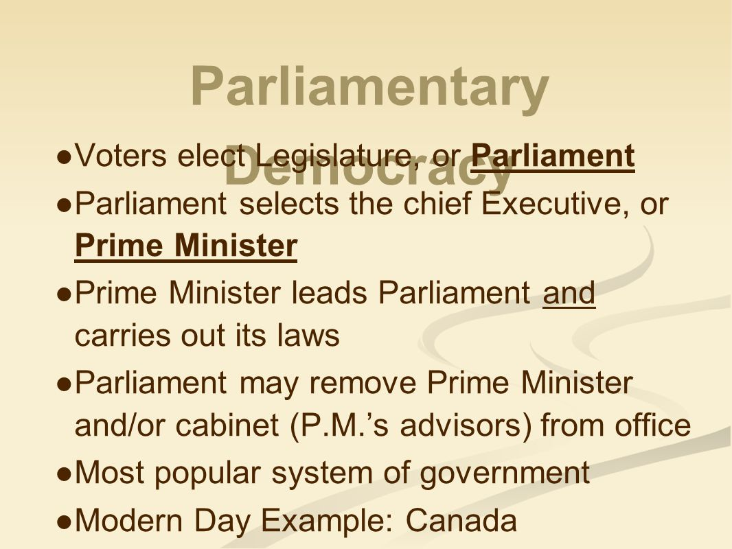Parliamentary Democracy