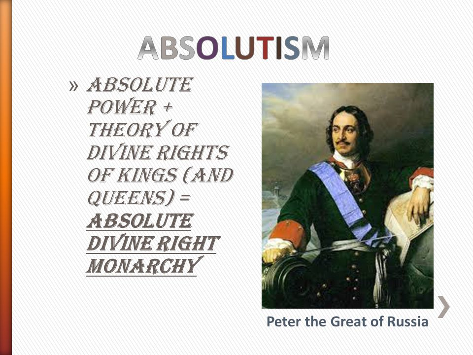 peter the great absolutism