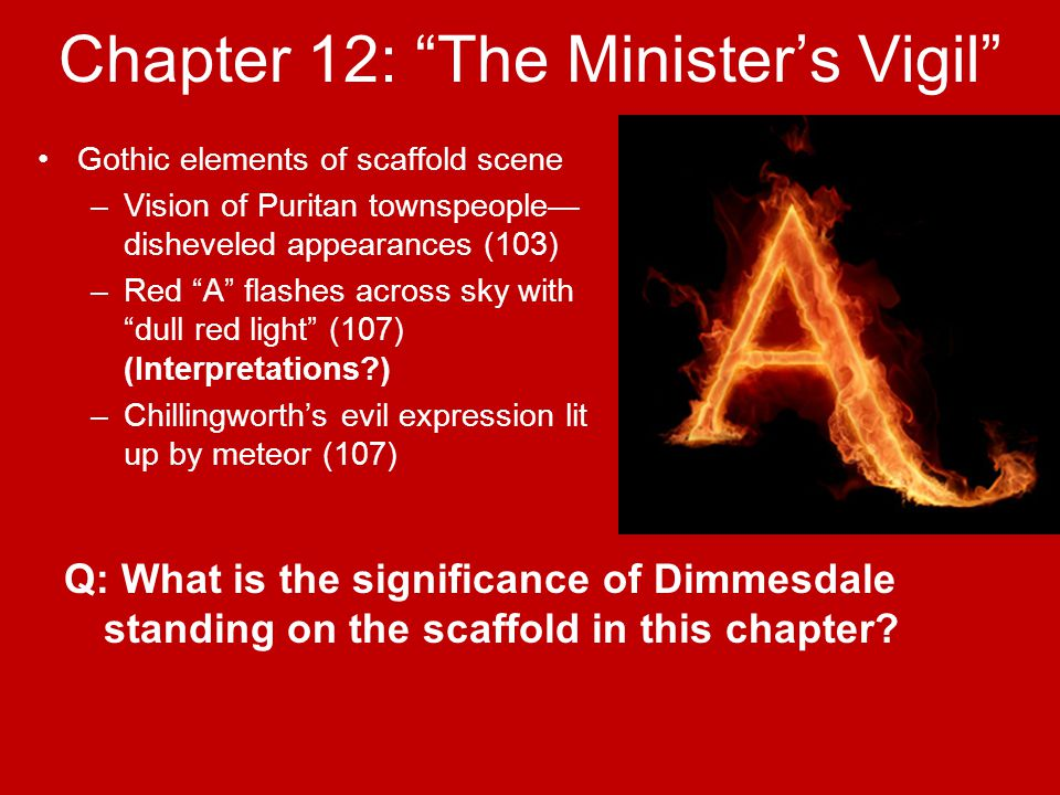 scarlet letter chapter 13 summary about the author nathaniel hawthorne ppt 24733 | Chapter 12: The Minister's Vigil