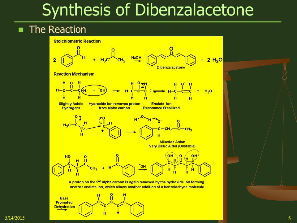 Synthesis of Dibenzalacetone - ppt video online download