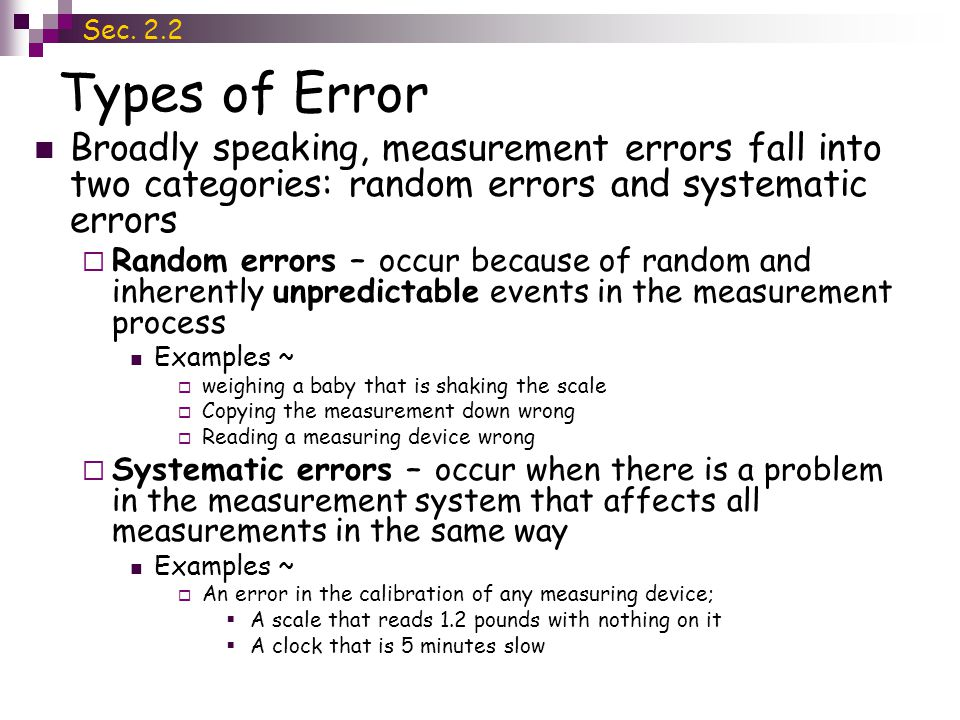 Section 22 Dealing With Errors Ppt Video Online Download