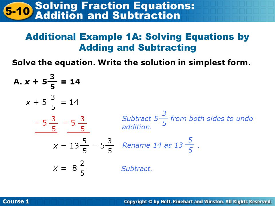how to solve algebraic equations with negative fractions