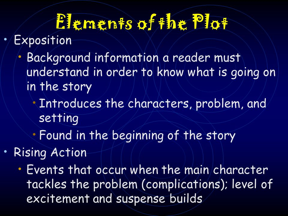 Elements of the Plot Exposition