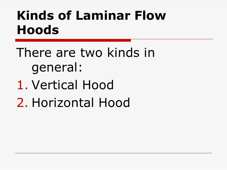 Kinds of Laminar Flow Hoods