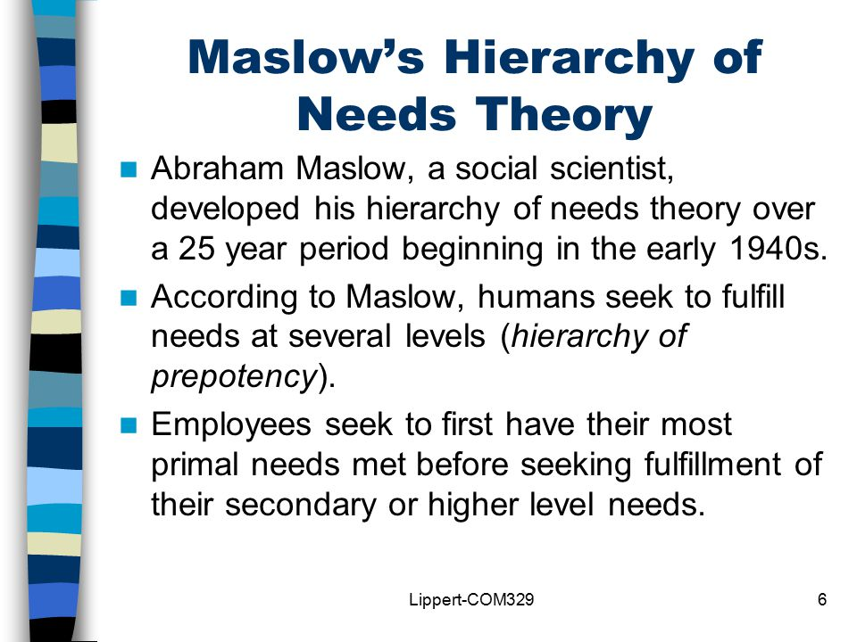 maslow hierarchy of needs theory pdf