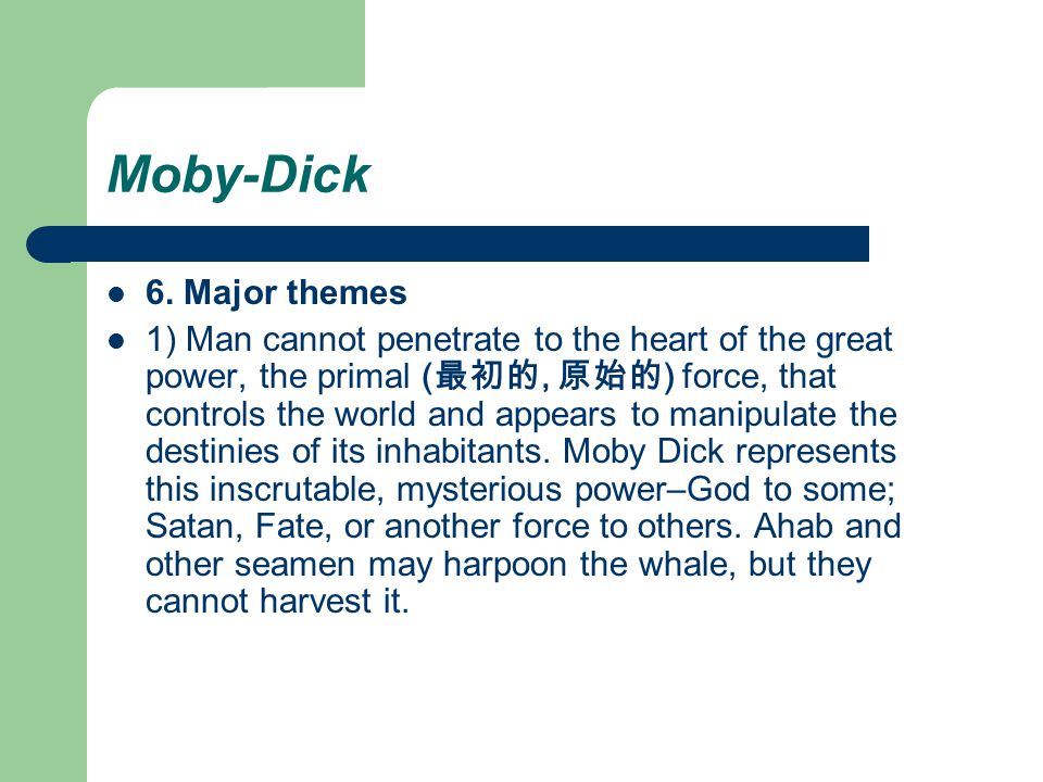 Themes of moby dick