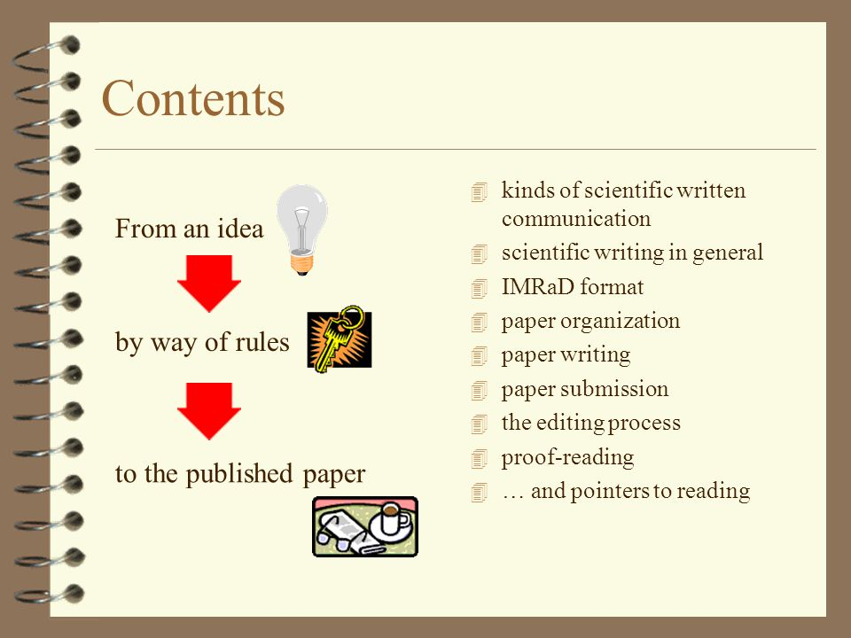 scientific paper writing The major difference between science writing and writing in other academic fields is the relative importance placed on certain stylistic elements this handout details the most critical aspects of scientific writing and provides some strategies for evaluating and improving your scientific prose.