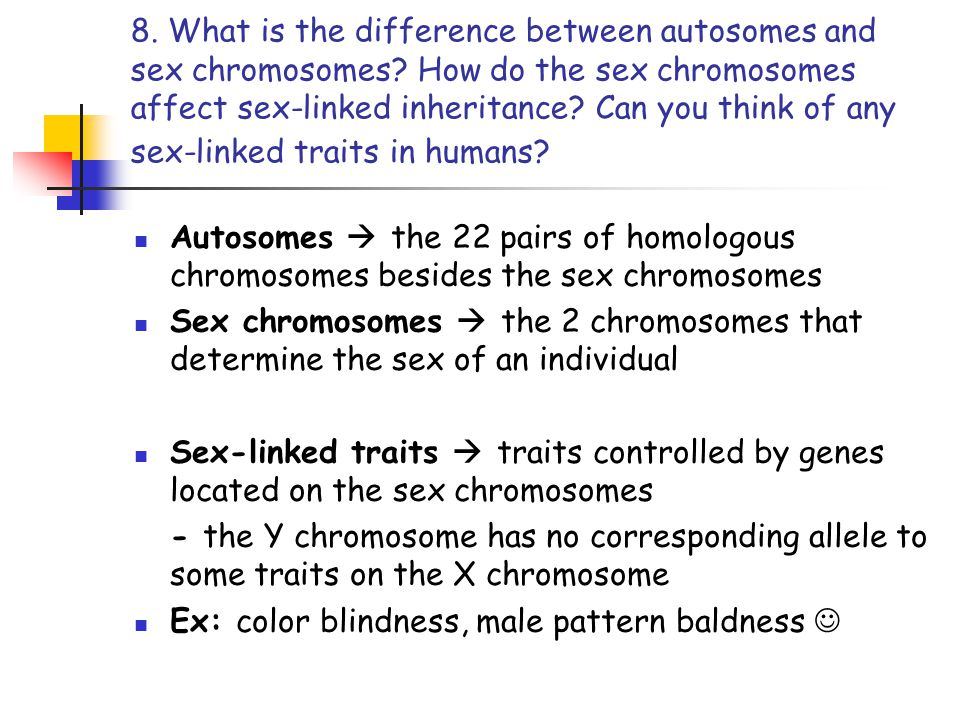 What is the difference between autosomes and sex chromosomes picture 81