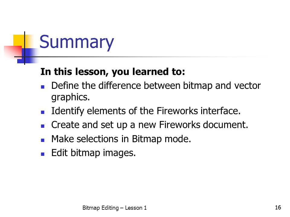 Bitmap Editing – Lesson 1 - ppt video online download
