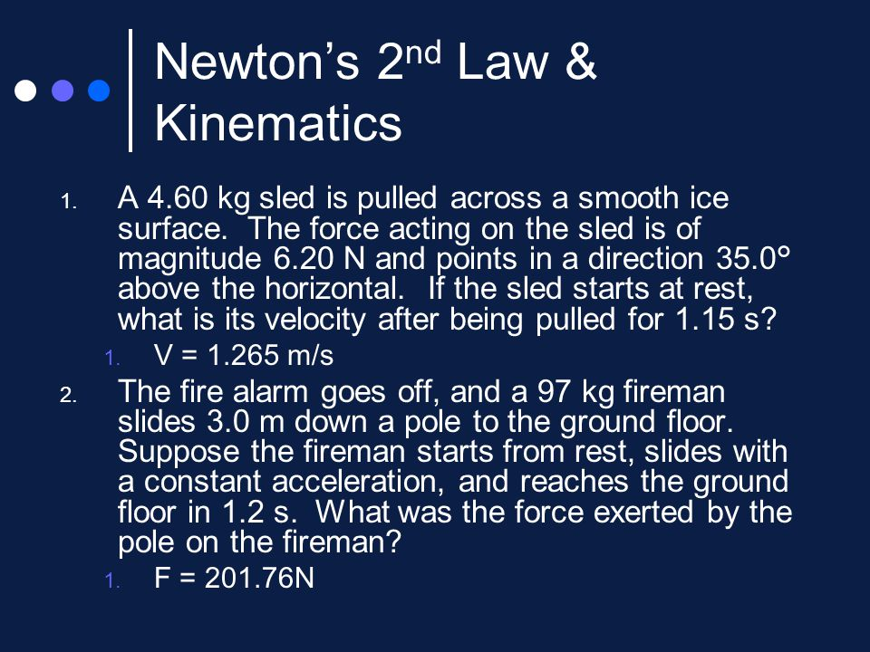 Newton's Second Law Of Motionforce And Acceleration Ppt Video. 8 Newton's 2nd Law Kinematics. Worksheet. Unit V Worksheet 2 Kinematics Newton S 2nd Law At Mspartners.co