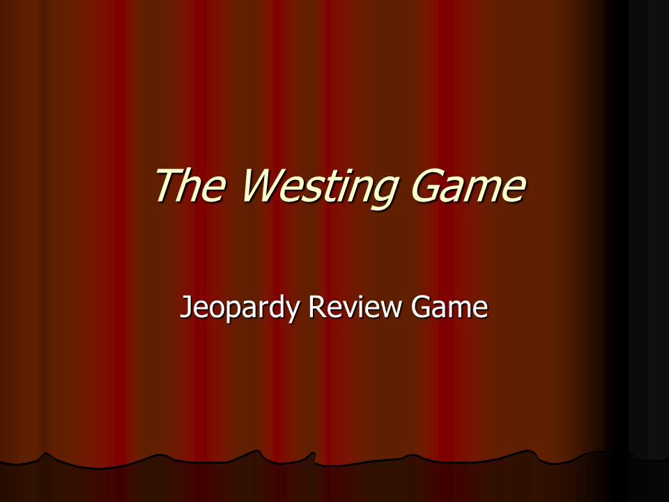 The Westing Game Book