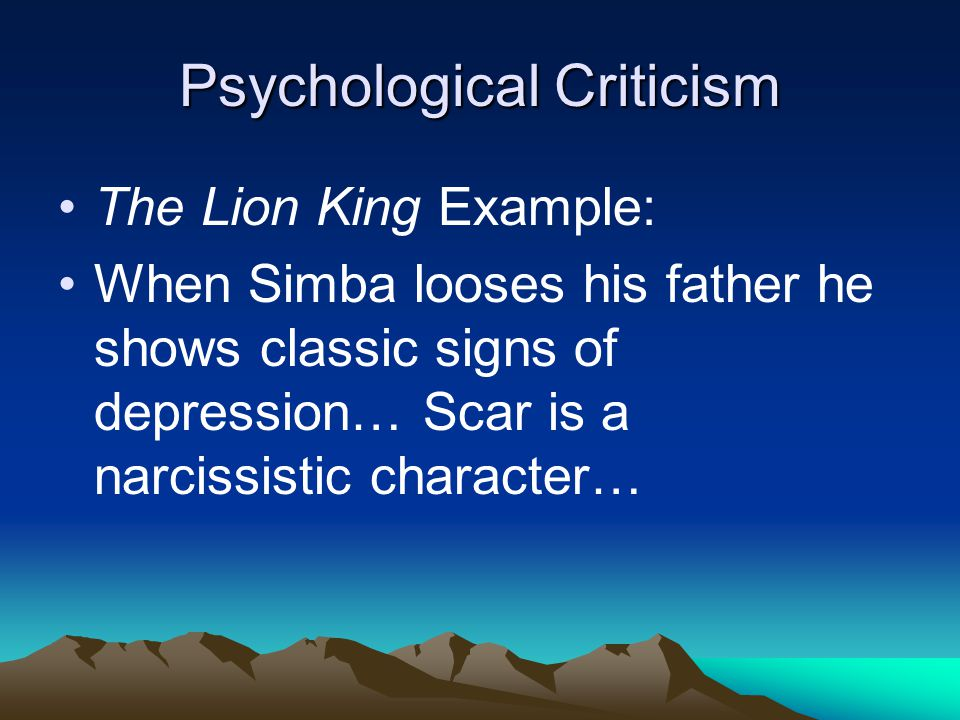 Psychological Criticism