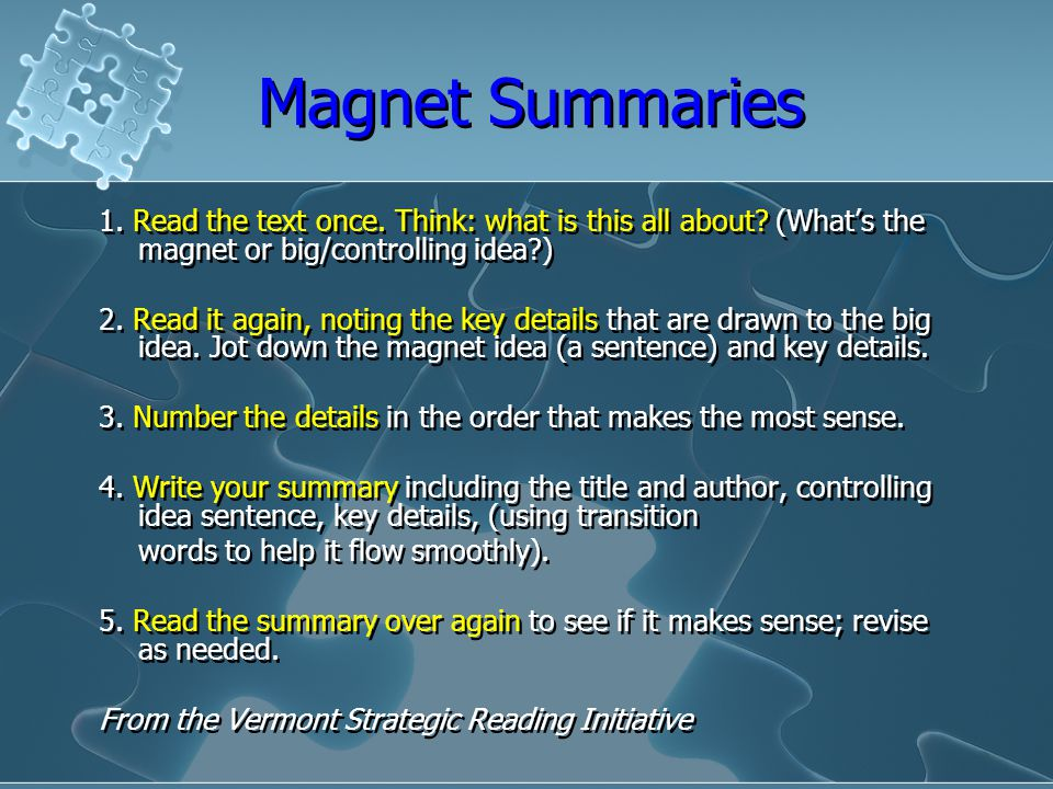SUMMARIZING Why and How. - ppt video online download