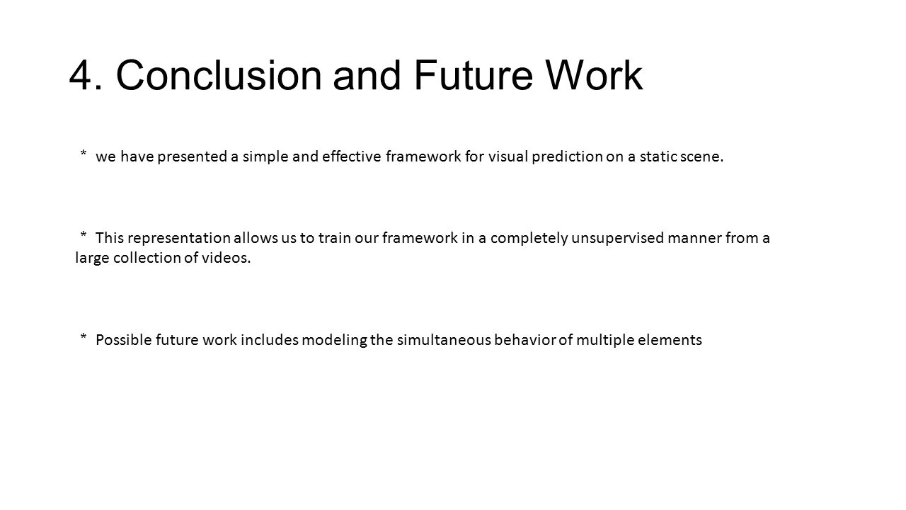 4. Conclusion and Future Work